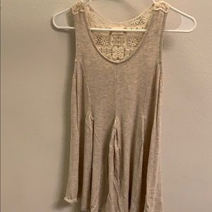 Beige tank with crochet back